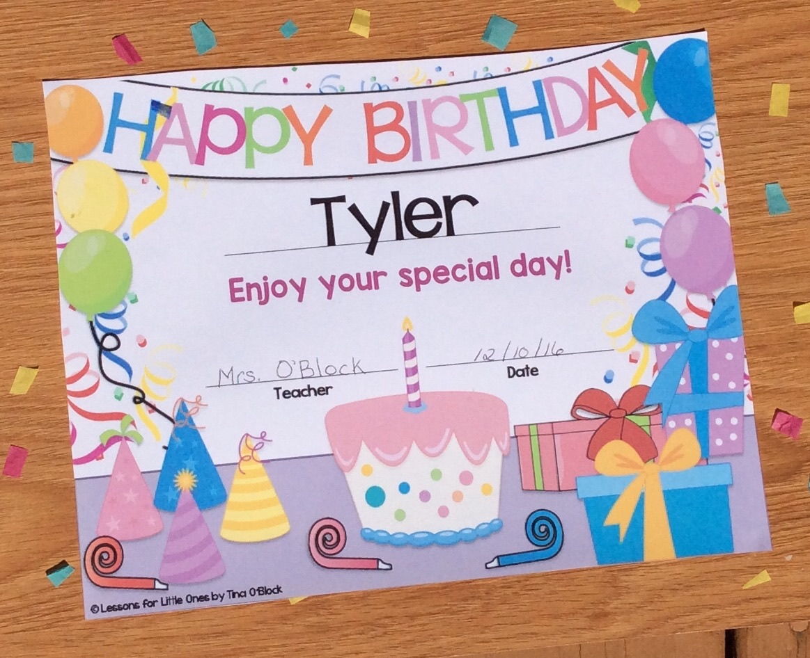 Celebrating Birthdays In The Classroom Ideas For Student Birthday Gifts