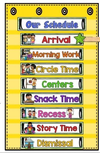 early childhood classroom schedule