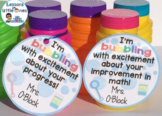 I'm Bubbling With Excitement About Your Progress! and I'm Bubbling With Excitement About Your Improvement! Bubble Tags