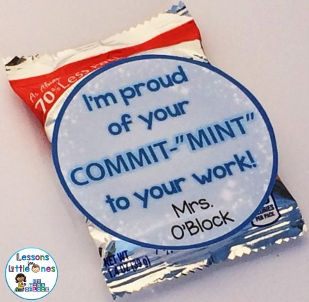 """I'm Proud of Your """"Commit-MINT"""" to Your Work! Student Gift Tag"""