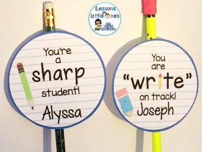 "You're a Sharp Student and You are ""Write"" on Track Pencil Topper Tags"