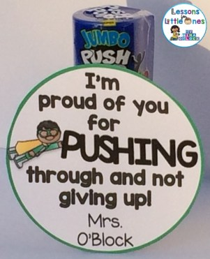 I'm Proud of You for Pushing Through and Not Giving Up Student Gift Tag