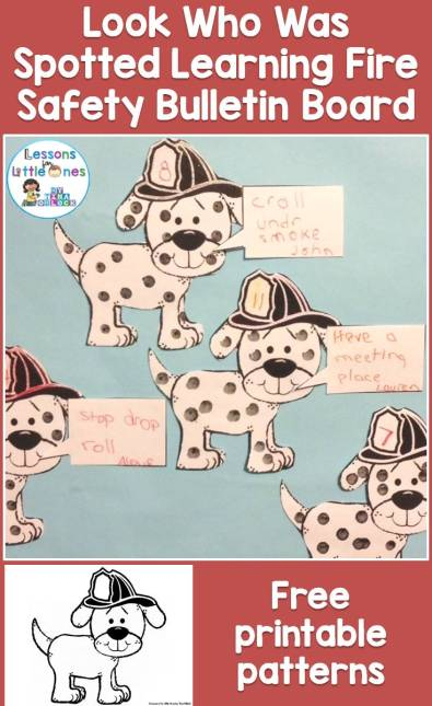 Fire Safety Bulletin Board & Free Printable Pattern