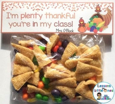 free Thanksgiving Student Treat Bag Topper