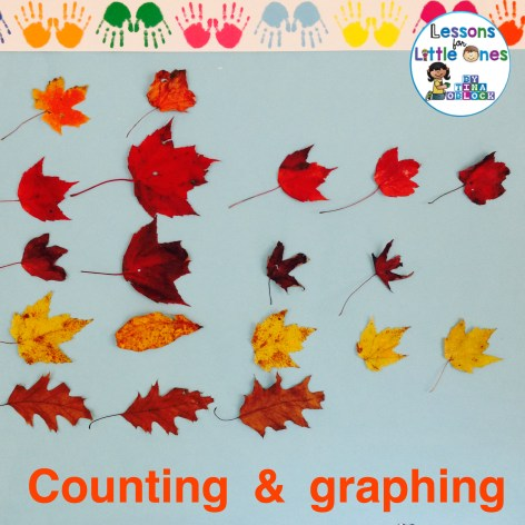 counting and graphing fall leaves