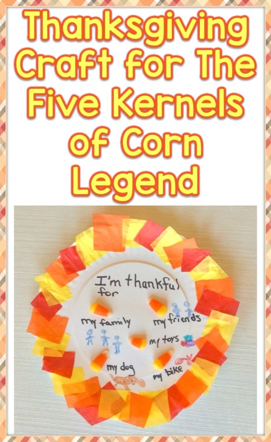 Thanksgiving Craft for the Five Kernels of Corn Legend