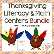 Thanksgiving Literacy & Math Centers Bundle