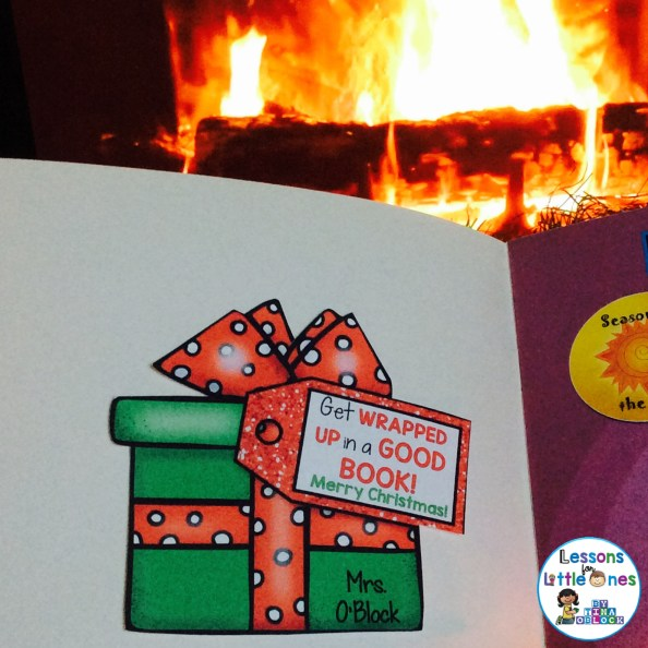 Christmas student gift tag for a book