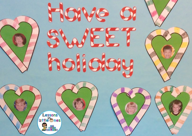 Christmas candy cane bulletin board - Have a SWEET holiday
