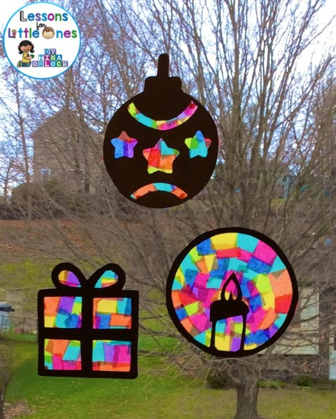 christmas stained glass window templates - christmas silhouette window decorations lessons for