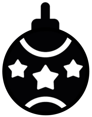 Christmas tree ball silhouette window decorations