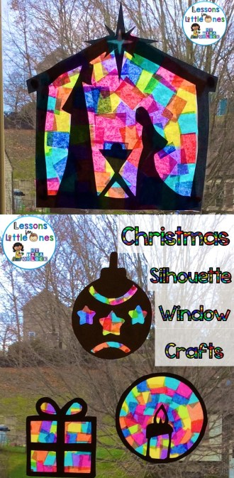 Classroom Windows Decoration Ideas ~ Christmas silhouette window decorations lessons for