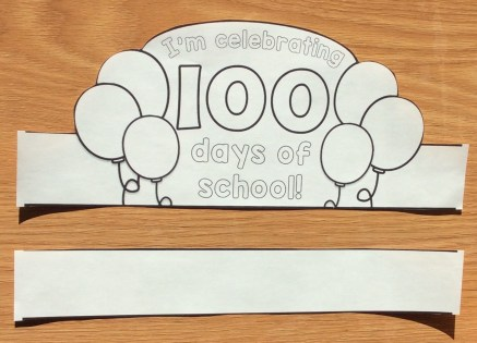 100th day of school ideas treats lessons for little for 100th day of school crown template
