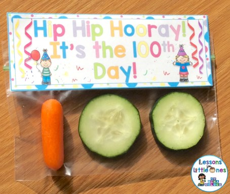 100th day of school healthy treat / snack idea