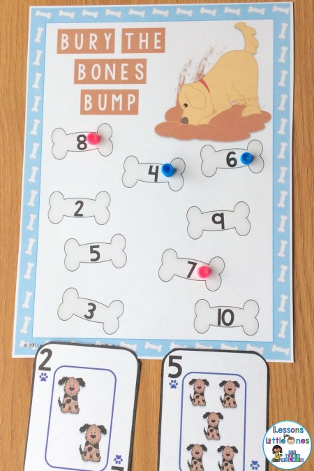 addition and subtraction BUMP game