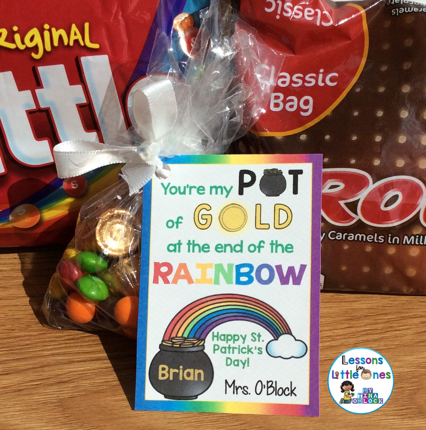 a80b1e89 St. Patrick's Day Treats for Students, Gift Tags & Treat Bag Toppers ...