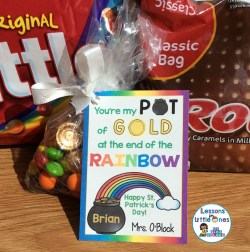 St. Patrick's Day Student Treat Tag