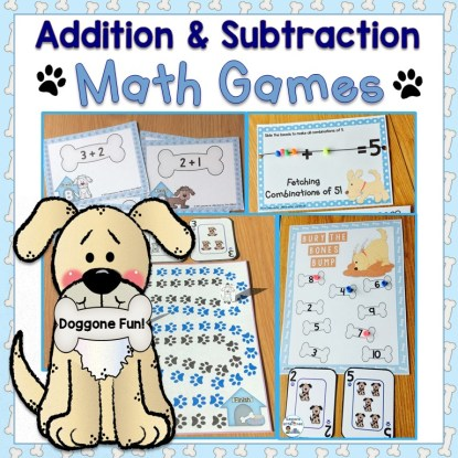 Addition & Subtraction Math Games, Equation Boards, SCOOT Cards