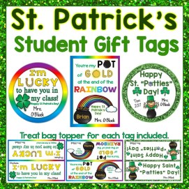 St. Patrick's Day Student Gift Tags