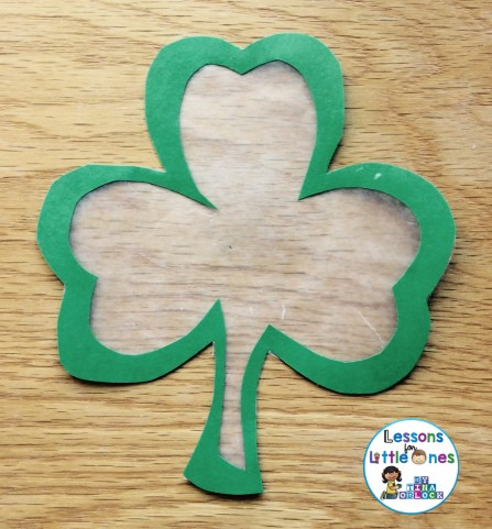 St. Patrick's Day suncatcher craft