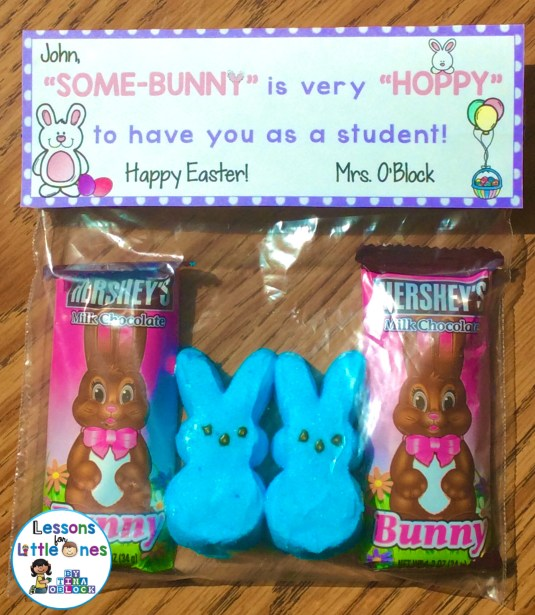 Easter student treat bag topper
