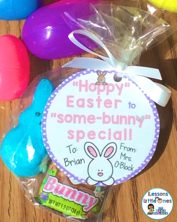 Easter student gift tag round