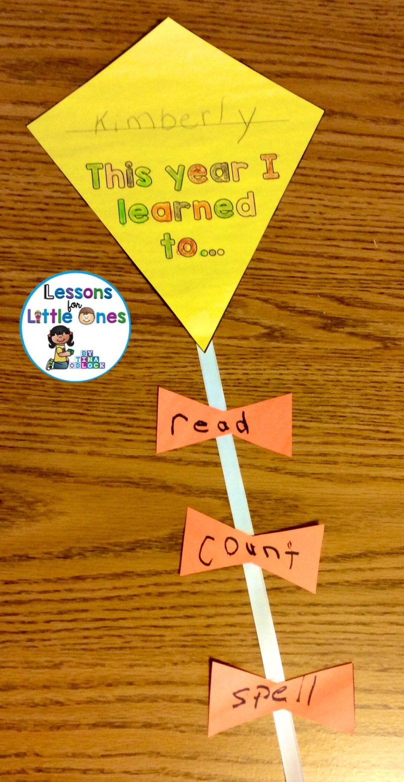 end of the year writing craft - kite