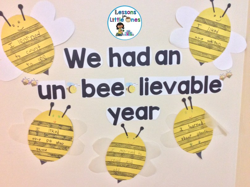 End of the year classroom display