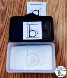 salt tray for alphabet letter writing