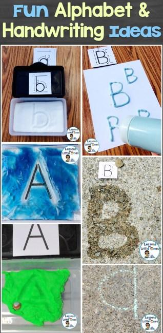 Fun Alphabet and Handwriting Ideas
