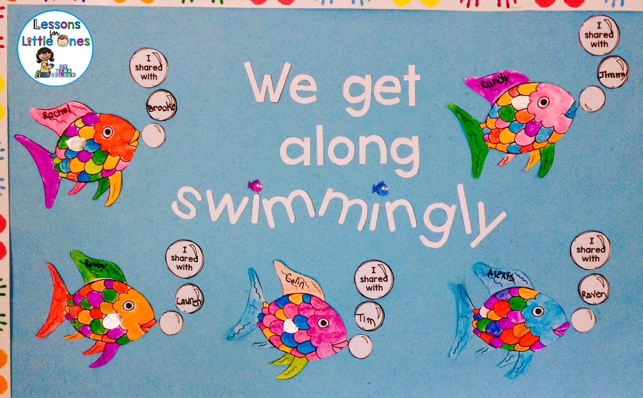 Rainbow Fish Sharing Activity Amp Classroom Display