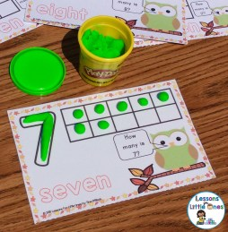 number play dough mat