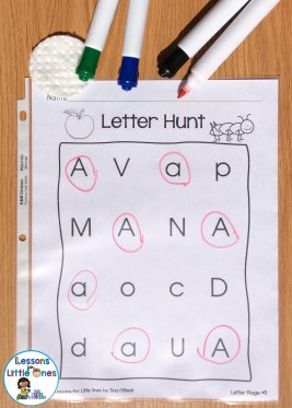 alphabet letter hunt