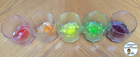 Skittles for rainbow density experiment