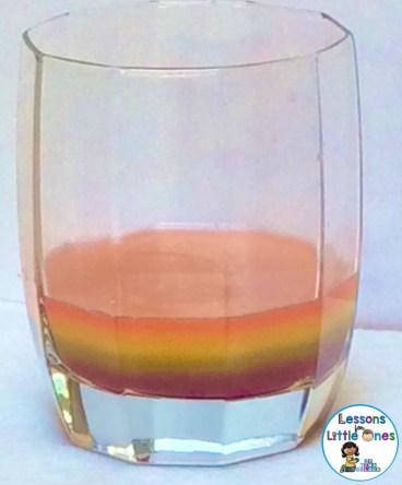 Skittles density rainbow science experiment