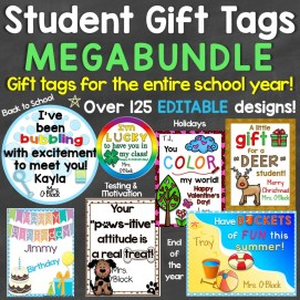 Student Gift Tags Megabundle