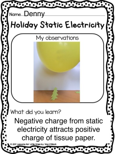 Christmas static electricity Pic Collage