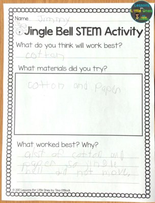jingle bell STEM page