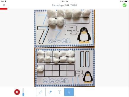 number mats in Seesaw app