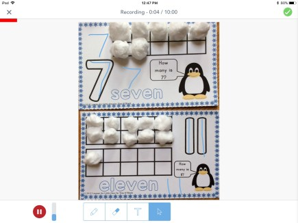 number mats in Seesaw app