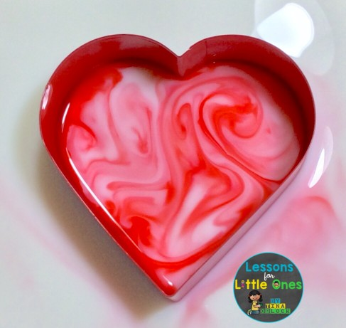 valentine science experiment magic milk