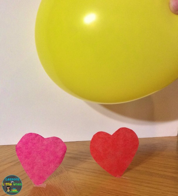 valentine science experiment static electricity