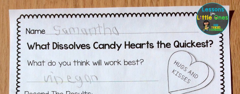 candy heart science experiment page