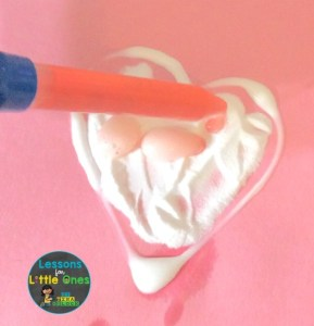 valentine fizzing hearts science experiment