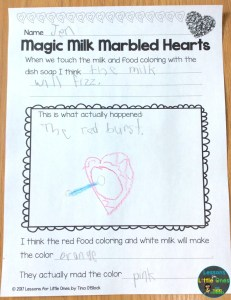 valentine science experiment magic milk page