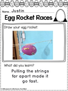 Easter Egg Rocket Races page Pic Collage