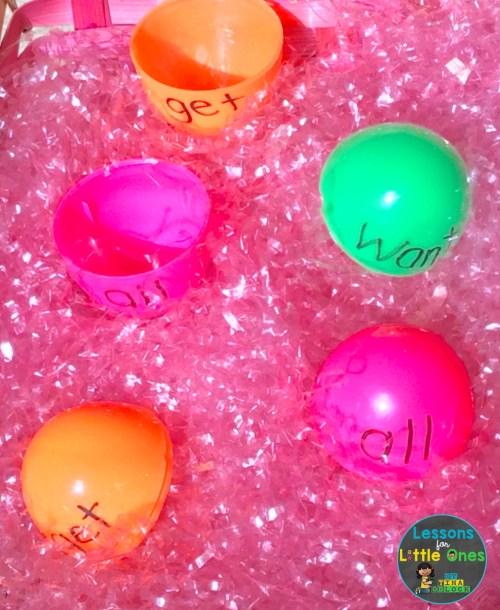 plastic egg learning center