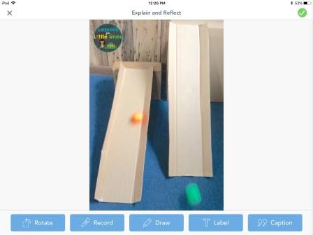 Easter egg roll STEM challenge Seesaw app