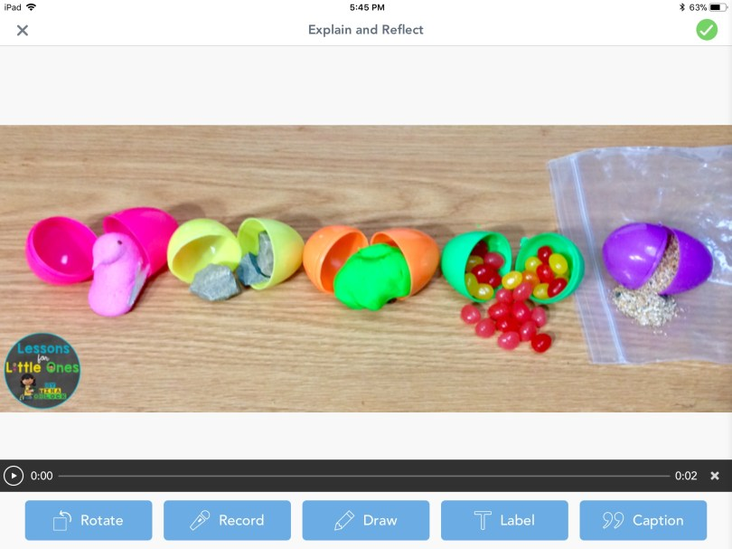 Easter eggs science Seesaw app
