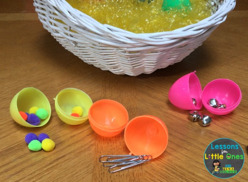 Easter egg magnetism science experiment